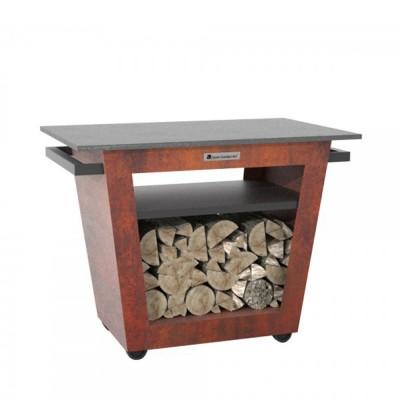 Стол со столешницей из гранита Quan Large, коричневый